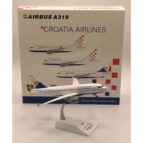 A319 Croatia Airlines 9A-CTG 1:200 with stand