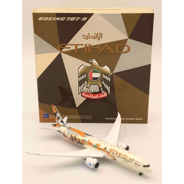 JC Wings B787-9 Dreamliner Etihad Choose Italy A6-BLH 1:400