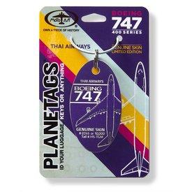 PlaneTags Thai Airways Boeing 747 PlaneTag Tail # HS-TGM Purple