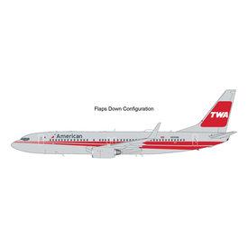 Gemini Jets B737-800W American TWA Retro N915NN 1:200 flaps +preorder+