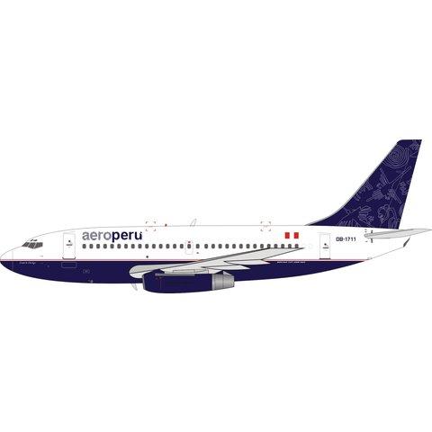 B737-200 AeroPerú OB-1711 1:200 with stand +Preorder+ +NSI+