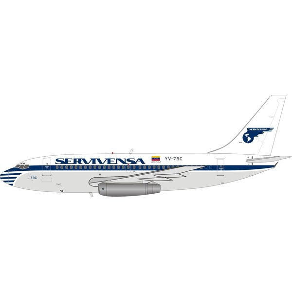 InFlight B737-200 Servivensa YV-79C 1:200 with stand +Preorder+