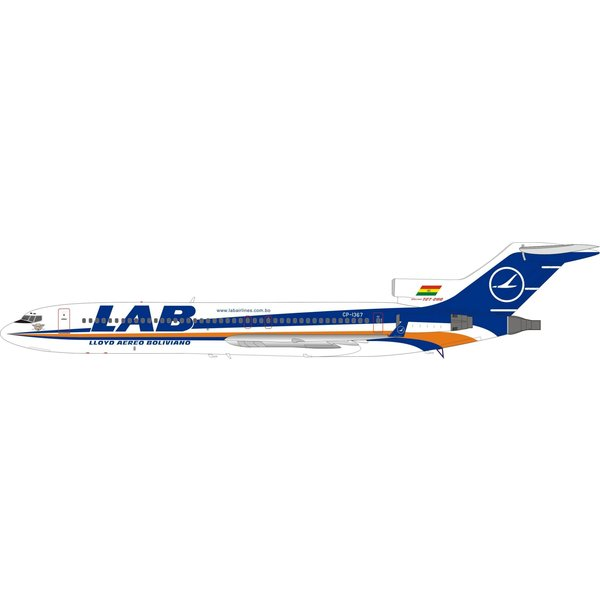 InFlight B727-200 LAB CP-1367 1:200 with stand
