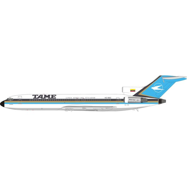 InFlight B727-200 TAME HC-BSC 1:200  with stand +Preorder+