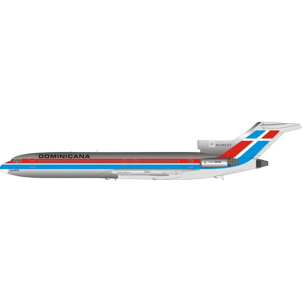 InFlight B727-200 DOMINICANA HI-242-CT 1:200 with stand