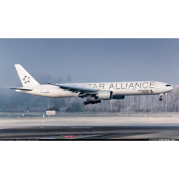 JFOX B777-300ER Singapore Airlines Star Alliance 9V-SWJ 1:200 +NSI+ +Preorder+