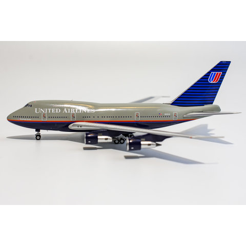 B747SP United Airlines Battleship Grey N145UA 1:400