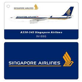 JFOX A330-300 Singapore 9V-SGG 1:200 stand/card +NSI+ +Preorder+