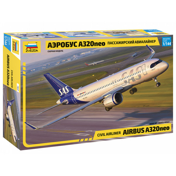 Zvesda А320neo SAS 1:144 +NEW 2021+