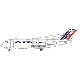 Fokker F-28-4000 Air France Newer colours 1:144