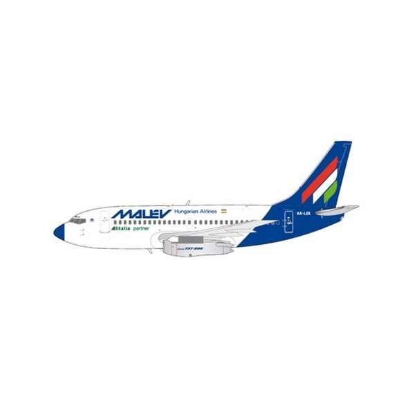 JC Wings B737-200 Malev HA-LEK 1:200 with stand +preorder+
