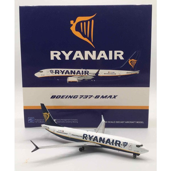JC Wings B737-8 MAX Ryanair EI-HAT 1:200 with stand