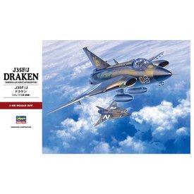 Hasegawa J35F/J DRAKEN Swedish AF 1:48 PT41
