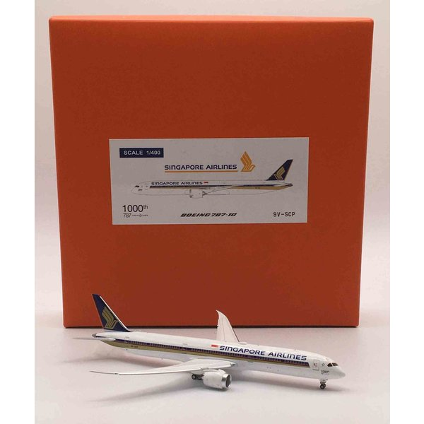 JC Wings B787-10 Dreamliner Singapore 1000th B787 9V-SCP 1:400 flaps down