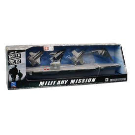 NewRay Aircraft Carrier with 4 aircraft Lights & Sounds  Military Mission
