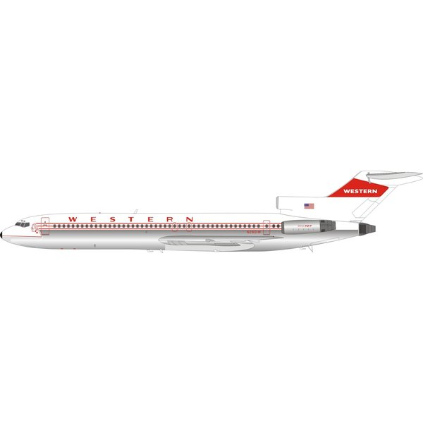 InFlight B727-200 Western Airlines N2801W 1:200 polished +preorder+