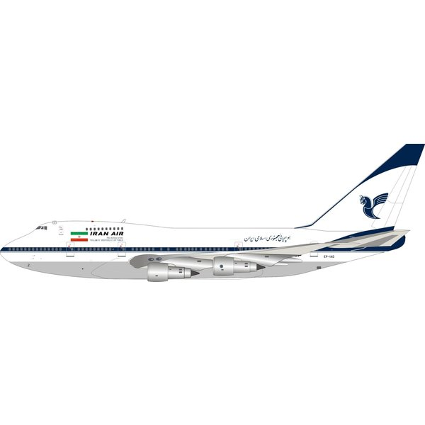 InFlight B747SP Iran Air EP-IAD 1:200 with stand +Preorder+