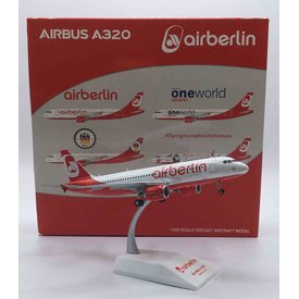 JC Wings A320 air berlin Last Flight D-ABNW 1:200 with stand
