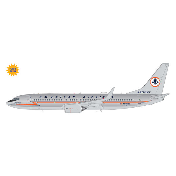 """Gemini Jets American Airlines B737-800 N905NN polished """"Astrojet"""" livery, flaps 1:200"""