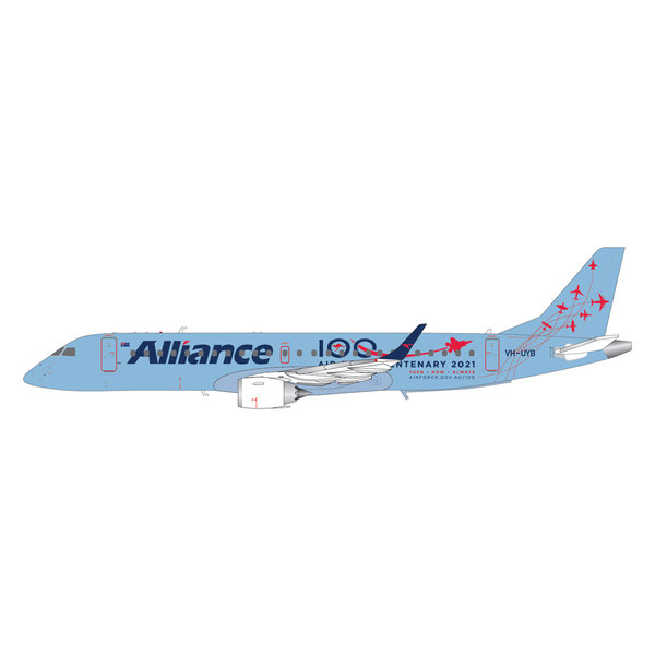 Gemini Jets ERJ190 Alliance Airlines Australia Air Force Centenary 2021 VH-UYB 1:200