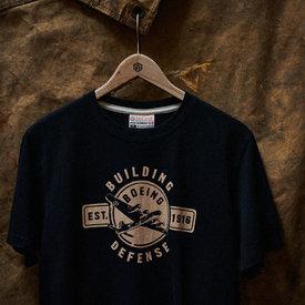 Red Canoe Brands Boeing Building Defense  T-Shirt Black