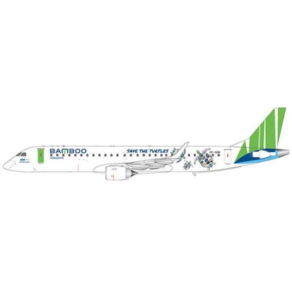 JC Wings Bamboo Airways Embraer 190-200LR OY-GDB ΓÇ£Save the turtles LiveryΓÇØ 1:400