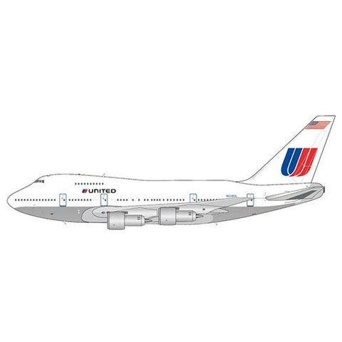 B747SP United Airlines White Livery N538PA 1:400