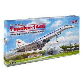 ICM Model Kits TU144D Aeroflot Supersonic Transport Soviet 1:144