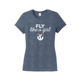 Fly Like A Girl Ladies T-Shirt