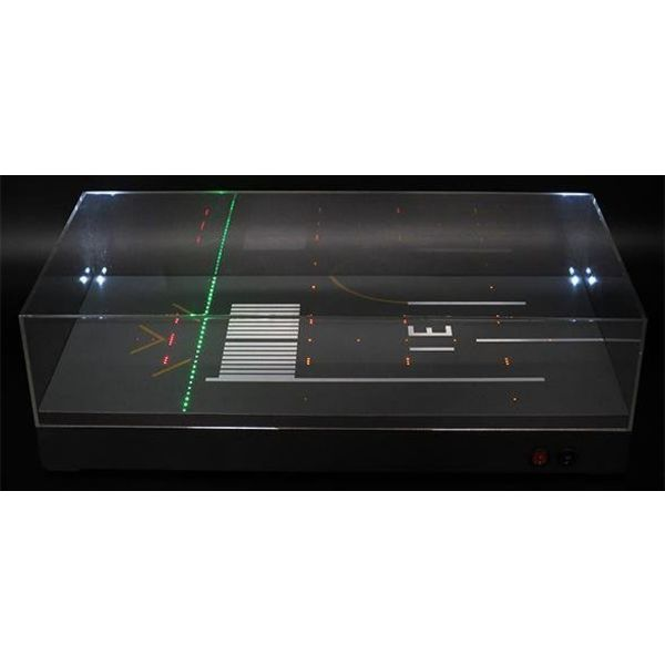 JC Wings Display Case Runway 31 w/LED 1:500++NSI++S++