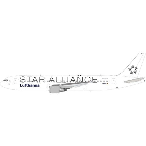 B767-300ER Lufthansa Star Alliance white tail D-ABUW 1:200 with stand +Preorder+