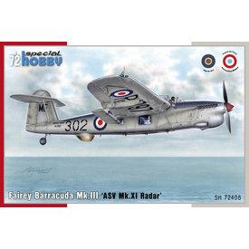Special Hobby Fairey Barracuda Mk.III 'ASW Mk.XI Radar' 1:72