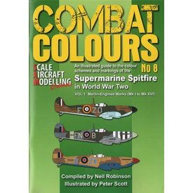 Scale Aircraft Modelling Combat Colours No.8: Supermarine Spitfire in WWII: Vol.1: Merlin CC#8 SC