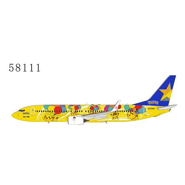 NG Models B737-800W Skymark Airlines new Pokemon livery JA73AB 1:400 +preorder+
