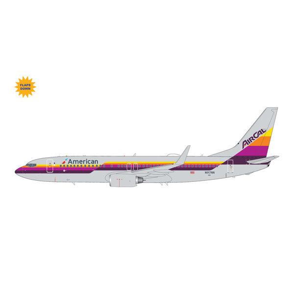 Gemini Jets B737-800W American AirCal Heritage Livery N917NN1:200 flaps +Preorder+
