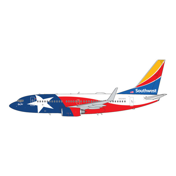 Gemini Jets B737-700W Southwest Airlines Lone Star One N931WN 1:400 +Preorder+