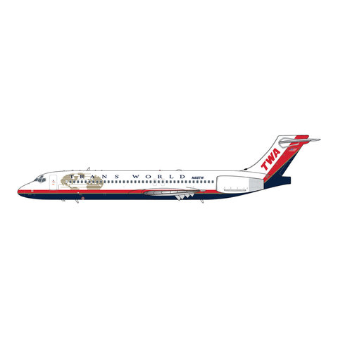 B717-200 Trans World TWA final livery N418TW 1:400