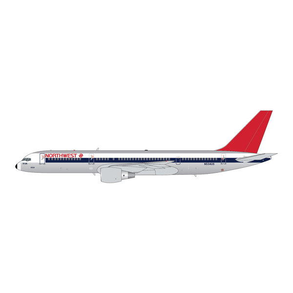 Gemini Jets B757-200 Northwest 1980s livery N534US 1:400 polished +preorder+