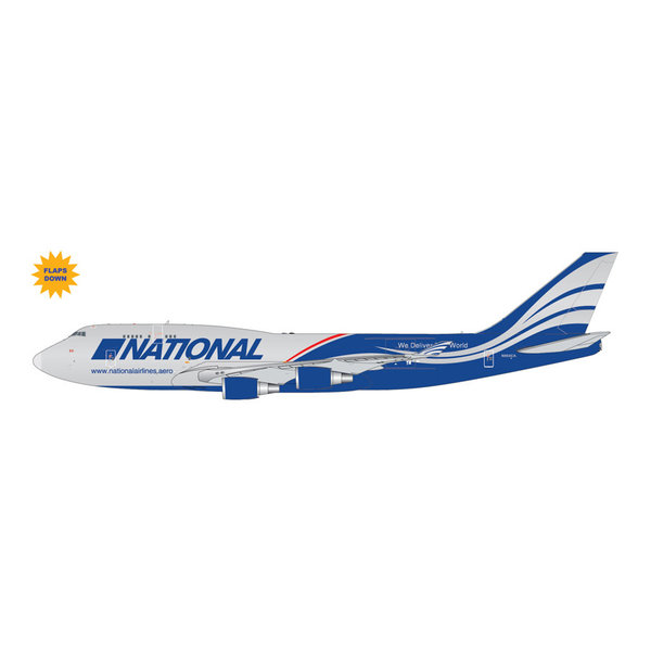 Gemini Jets B747-400BCF National Airlines N952CA 1:400 flaps +preorder+