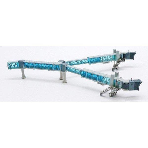 JC Wings Airport Passenger Bridge B747 Blue 1:400 +preorder+