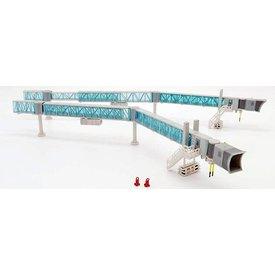 JC Wings Airport Passenger Bridge B737 Blue 1:200 +preorder+