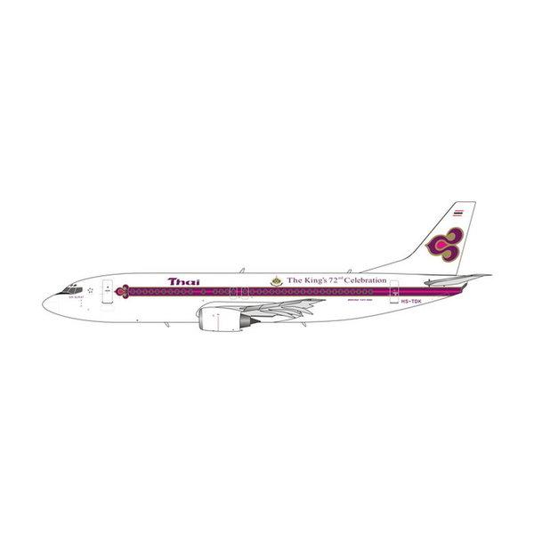 Phoenix B737-400 Thai Airways The King's 72nd Celebration HS-TDK 1:400 +preorder+