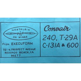 EXECUFORM Convair 240 American Airlines 1:72 Vacuform**Discontinued**