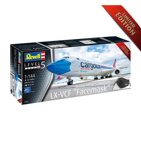 Revell Germany B747-8F CARGOLUX 'Not without my mask'1:144 Limited Edition