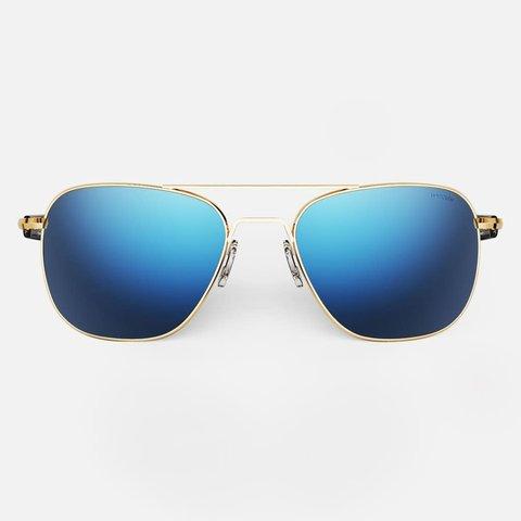 Aviator 23K Gold Skyforce™ Polarized Atlantic Blue