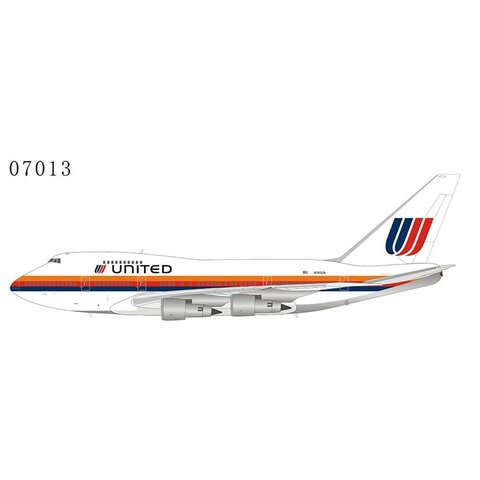 B747SP United Airlines Saul Bass large titles N140UA 1:400 +preorder+