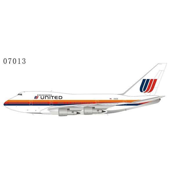 NG Models B747SP United Airlines Saul Bass large titles N140UA 1:400 +preorder+