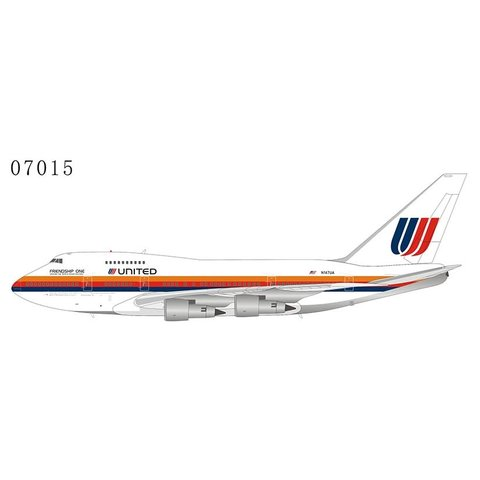 B747SP United Airlines Saul Bass Friendship One N147UA 1:400 +preorder+