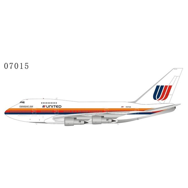NG Models B747SP United Airlines Saul Bass Friendship One N147UA 1:400 +preorder+