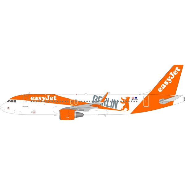 InFlight A320S EasyJet Europe Berlin bear OE-IZQ 1:200 sharklets with stand +Preorder+